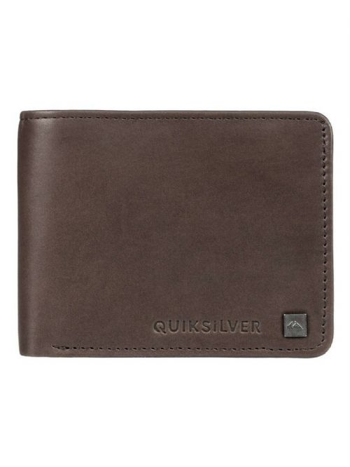 QUIKSILVER MENS WALLET.MACK VIII REAL LEATHER BROWN MONEY CARD NOTE PURSE 9S 73